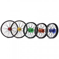 Complete rear wheel Nrteam 18X2.15 blue