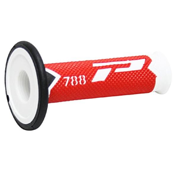 Poignées de guidon Progrip Triple Composite 788 White Red