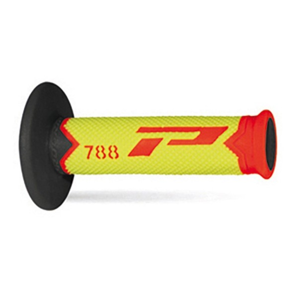 Puños del manillar Progrip Triple Composite 788 Red Yellow