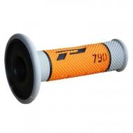 Puños del manillar Progrip Triple Composite 790 Grey Orange