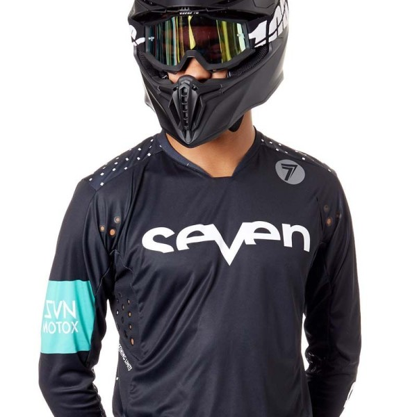 Camiseta Motocross Seven Rival Trooper Black