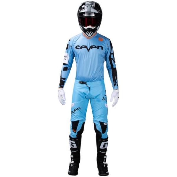Motocross jersey Seven Rival Trooper 2 blue