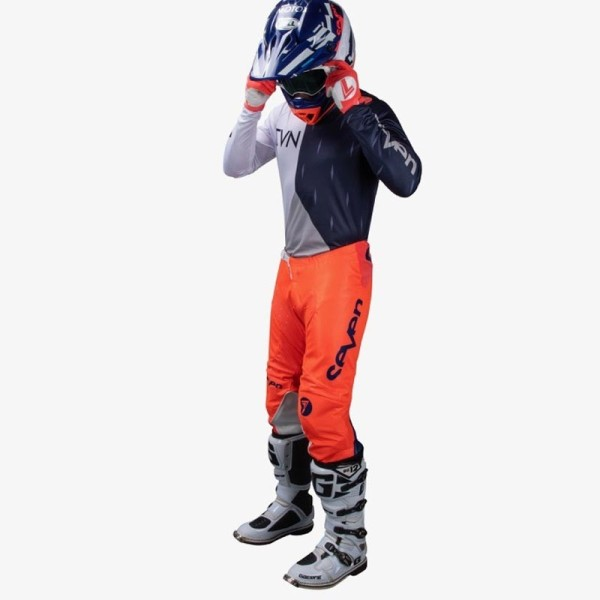 Motocross pants Seven Annex Bortz coral navy