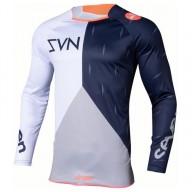 Motocross jersey Seven Annex Bortz coral navy
