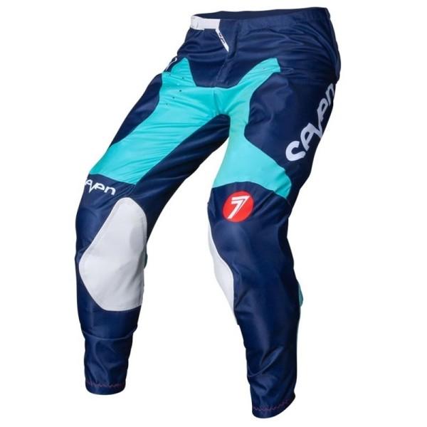 Pantaloni motocross Seven Annex Bortz aqua navy