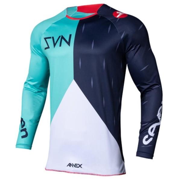 Motocross jersey Seven Annex Bortz aqua navy