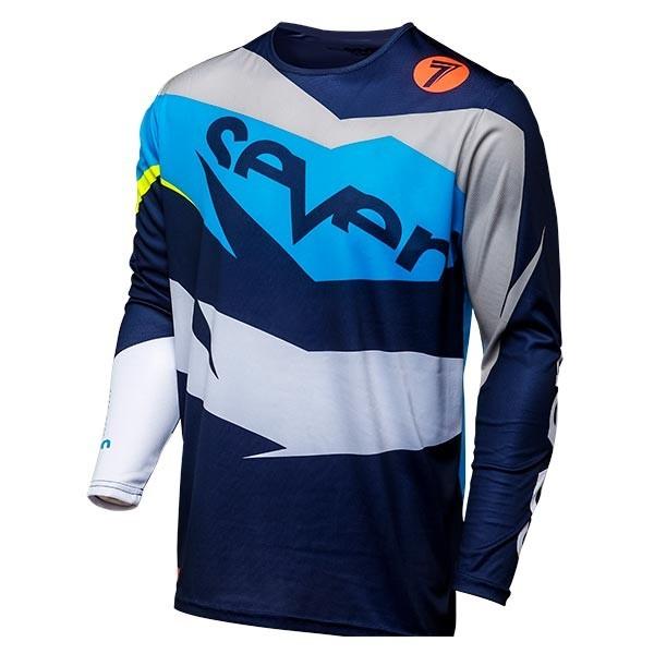 Camiseta Minicross Seven Annex Exo Coral Navy