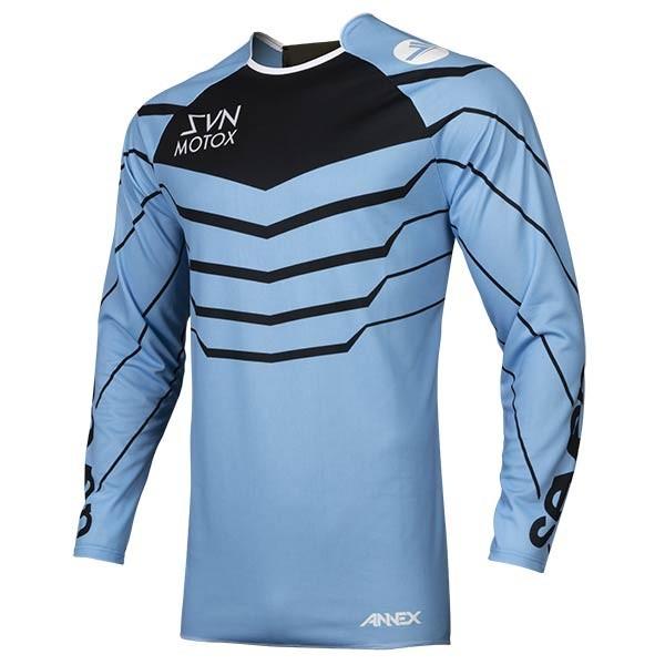 Camiseta Motocross Seven Annex Exo Blue