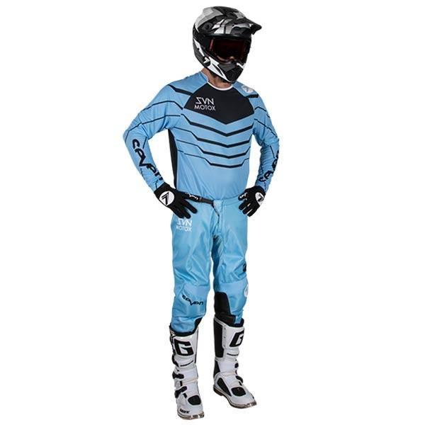 Motocross Jersey Seven Annex Exo Blue