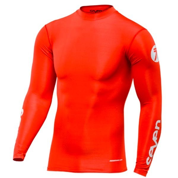 Camiseta Motocross Seven Zero Compression Red