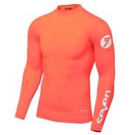 Camiseta Motocross Seven Zero Compression Coral