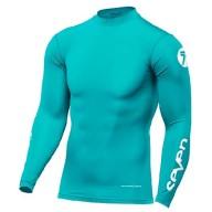 Camiseta Motocross Seven Zero Compression Aqua