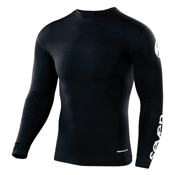 Camiseta Motocross Seven Zero Compression Black