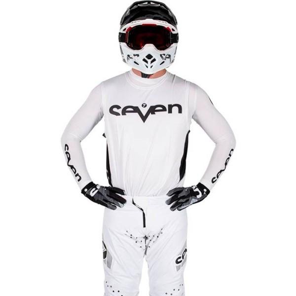Camiseta Motocross Seven Zero Staple White