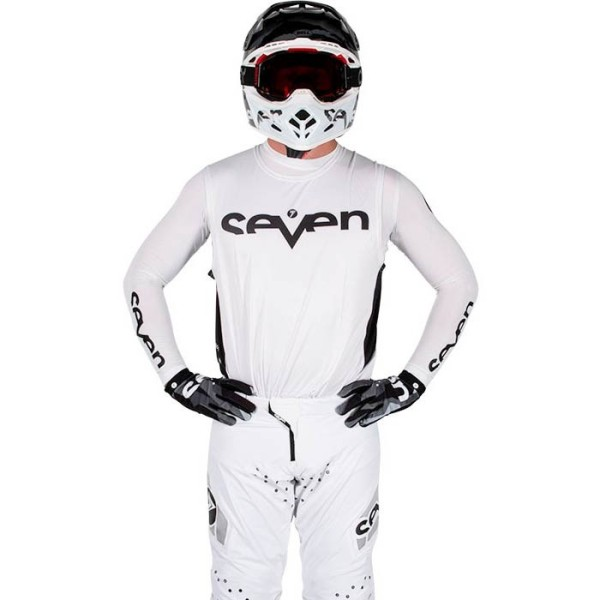 Maillot Motocross Seven Zero Staple White