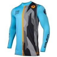 Camiseta Motocross Seven Zero Raider Blue