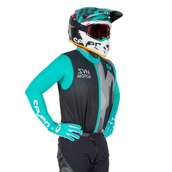 Motocross Jersey Seven Zero Raider Black