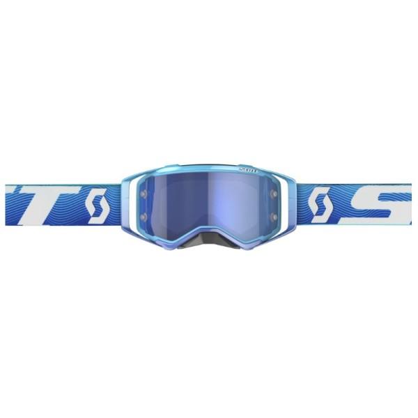 Lunettes Motocross Scott Prospect Blue/Balnc