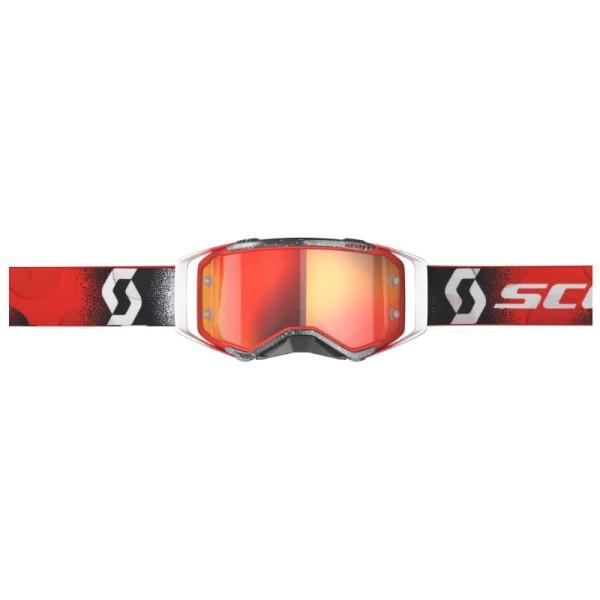 Lunettes Motocross SCOTT Prospect Blanc/Rouge