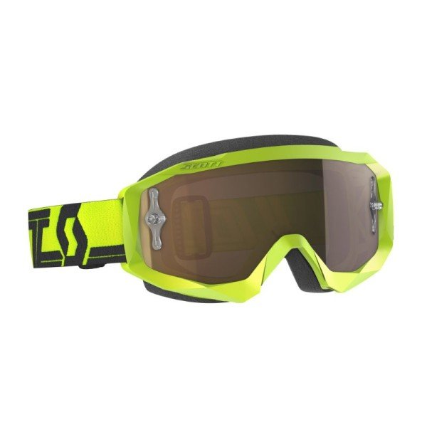SCOTT Hustle X MX yellow black Motocross Goggles