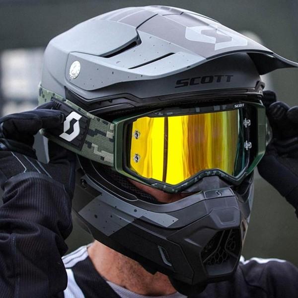 Motocross-Brille Scott Prospect Kaki Grun