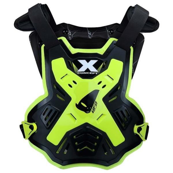 Pettorina Motocross Ufo Plast X-Concept EVO Black Neon