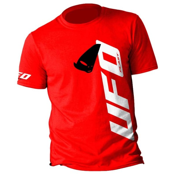 T-shirt Alien Ufo Plast Rouge
