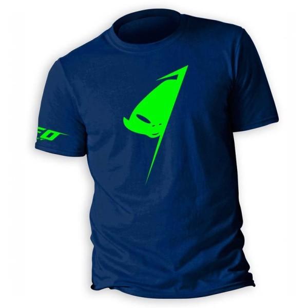 T-shirt Alien Ufo Plast Blu