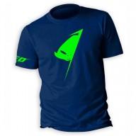 T-shirt Alien Ufo Plast Blau