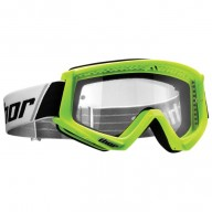 Motocross youth goggles Thor Combat white green