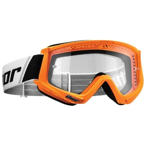 Motocross youth goggles Thor Combat white orange