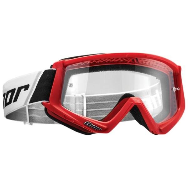Lunettes motocross enfant Thor Combat white red