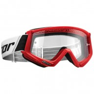 Motocross youth goggles Thor Combat white red