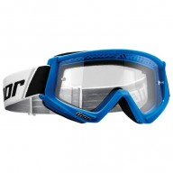 Motocross youth goggles Thor Combat white blue