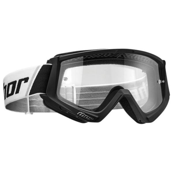 Occhiali motocross bambino Combat black white