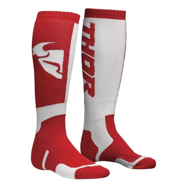 Calcetines de motocross THOR MX Sock Red White