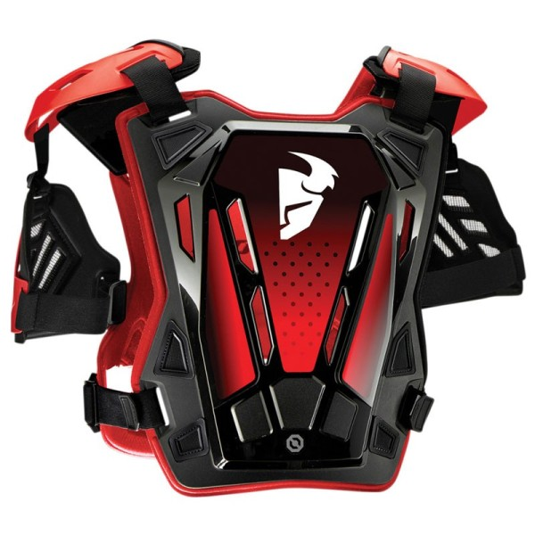 Chest Roost Protective Motocross THOR Guardian Black Red