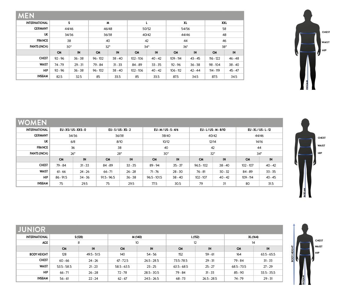 Scott Motocross Tabella Taglie - Size Chart