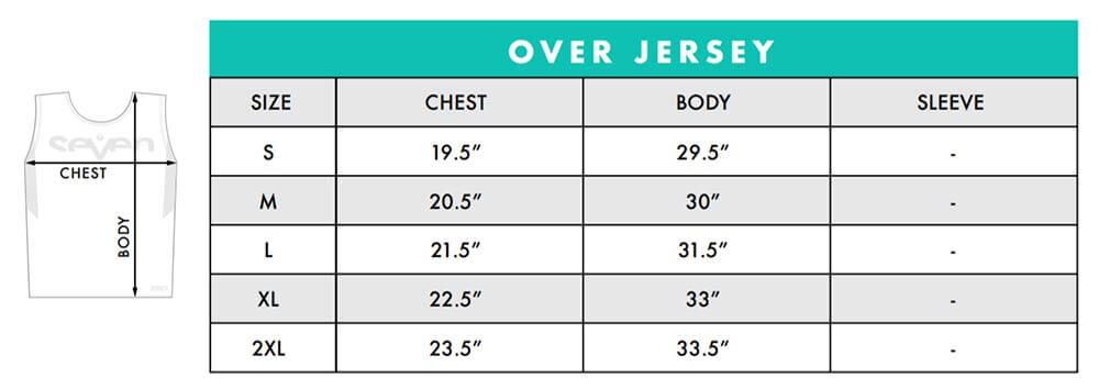Seven MX Zero Size Chart