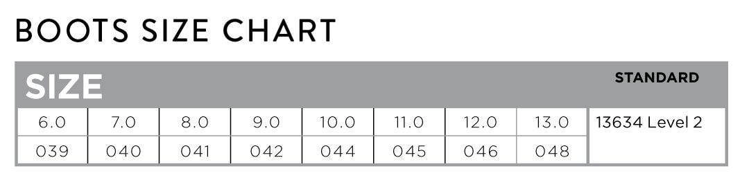 Scott Boots Size Chart - Tabella Taglie Stivali