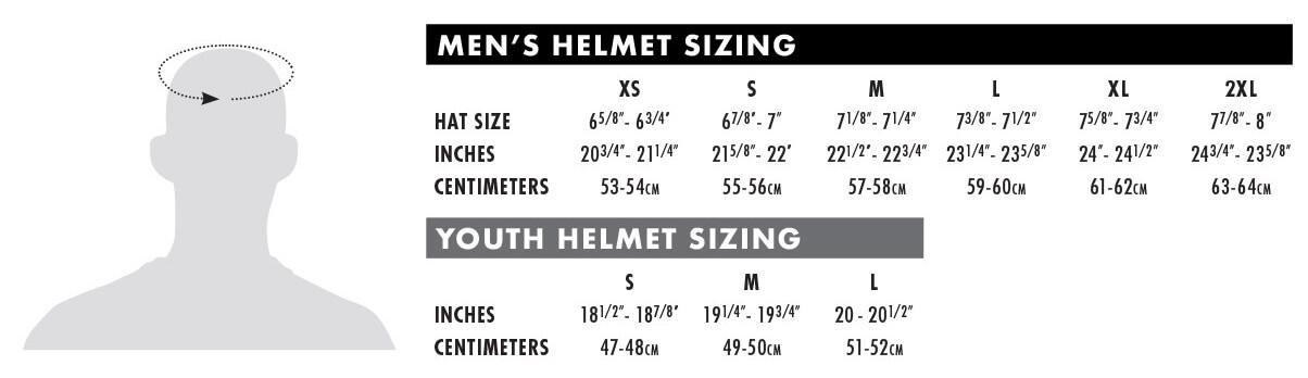 THOR MX Size Chart Helmet